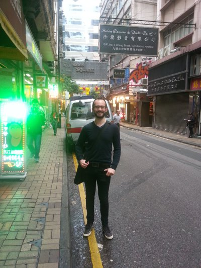 Me in the streets of Hong Kong.