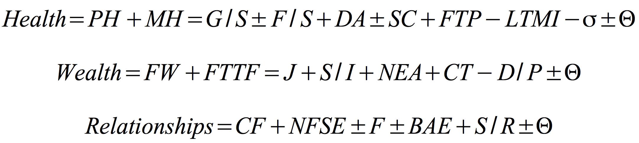 life-equations